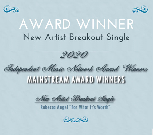 "Rebecca Angel awarded ""New Artist Breakout Single"" - Independant Music Awards"